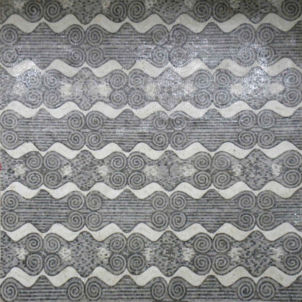 Abstract Mosaic Monochrome Geometric Pattern by Mozaico