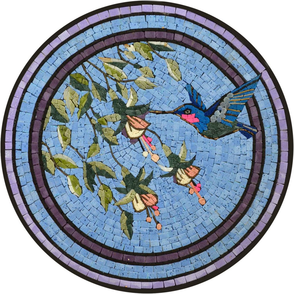 Hummingbird Mosaic Table Top by Mozaico