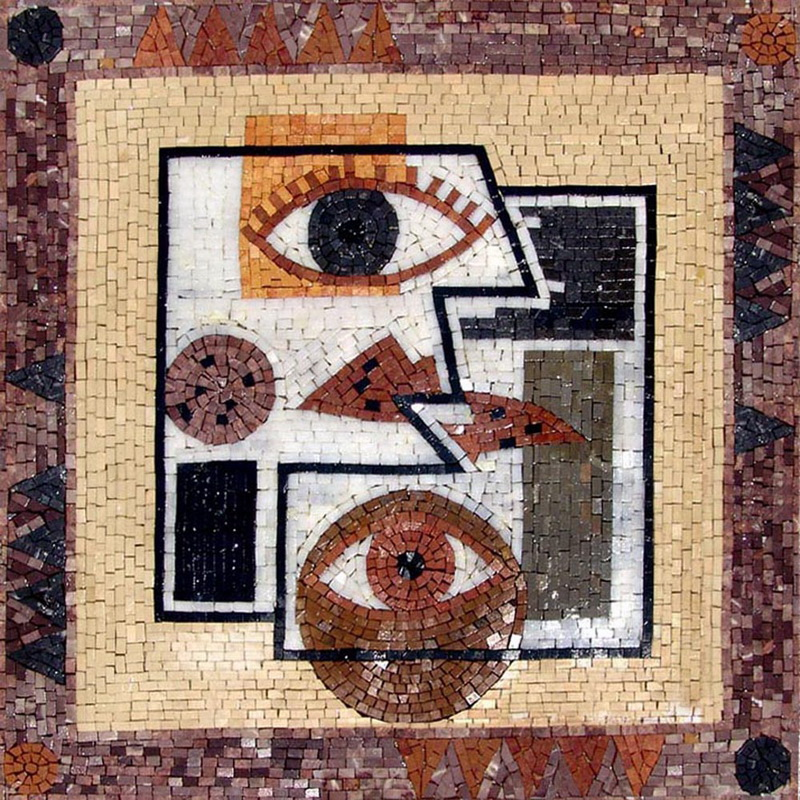 The Seeing Eyes Modern Mosaic by Mozaico