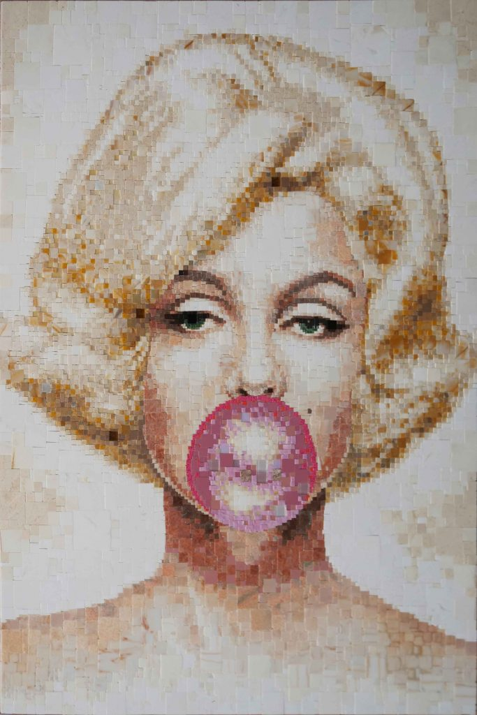 Marilyn Monroe - Mosaic Art by Mozaico