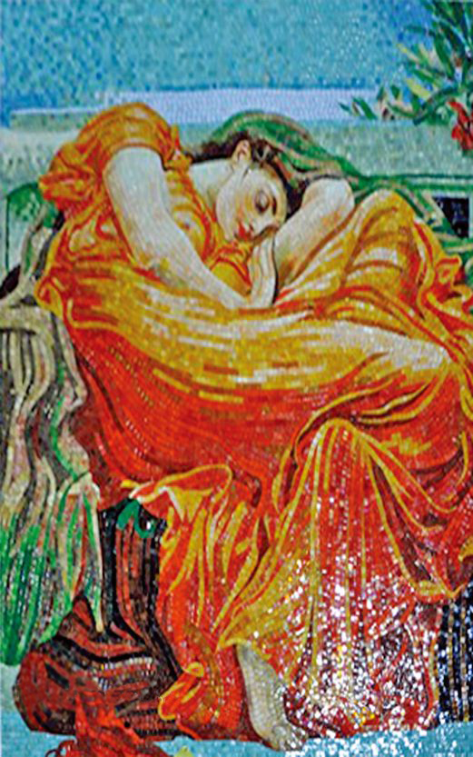 """Frederic Leighton Flaming June"""" - Mosaic Reproduction """""""