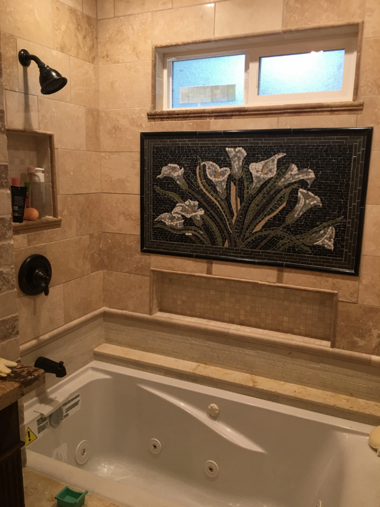 Shimmy Lily Mosaic Wall Art by Mozaico
