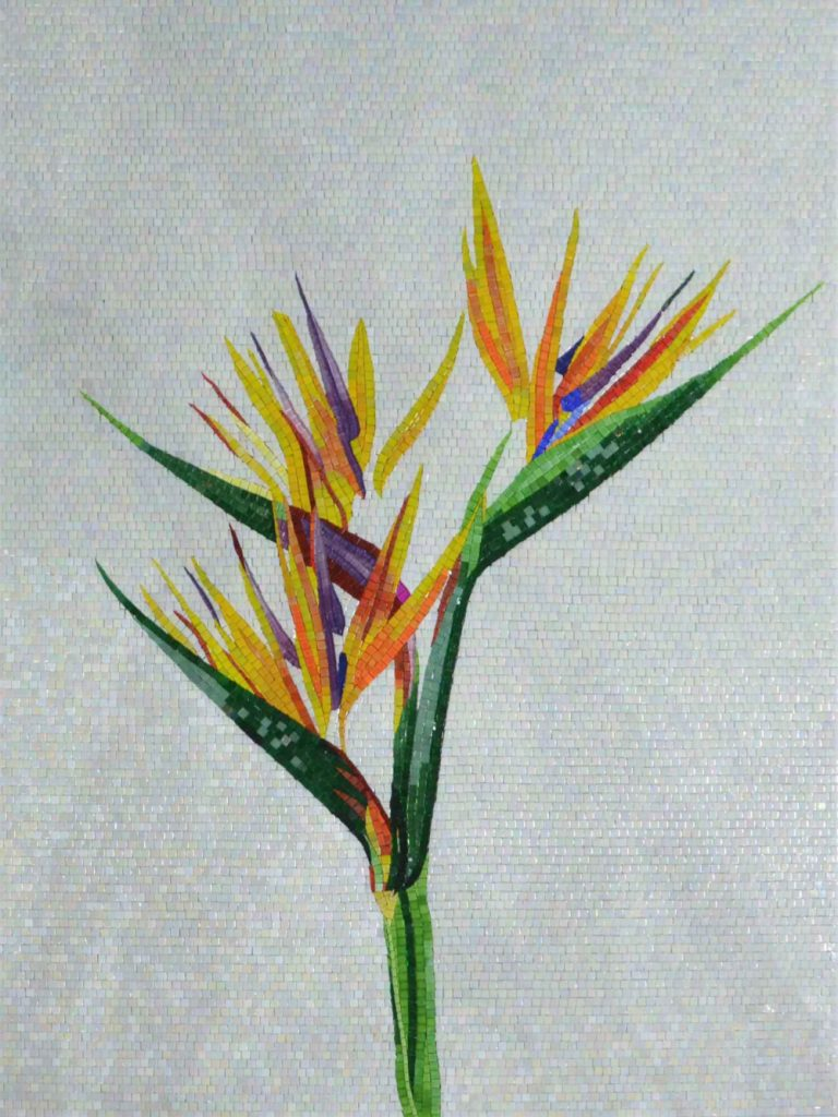 Birds of Paradise Mosaic Flower by Mozaico