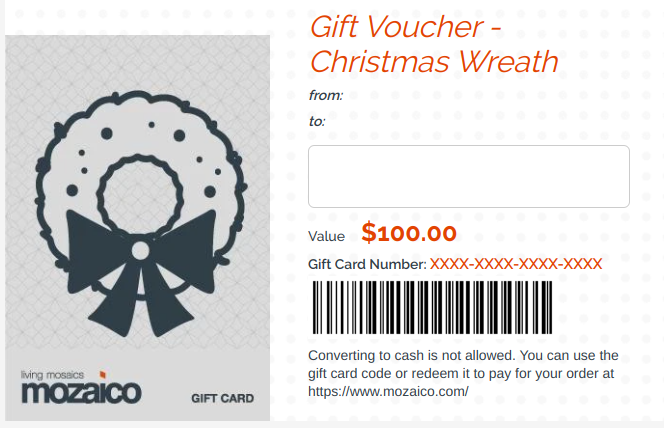 Gift Card from Mozaico