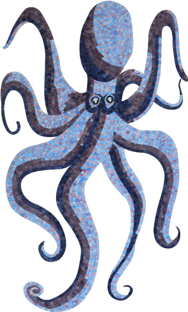 Glass Octopus Nautical Mosaic by Mozaico
