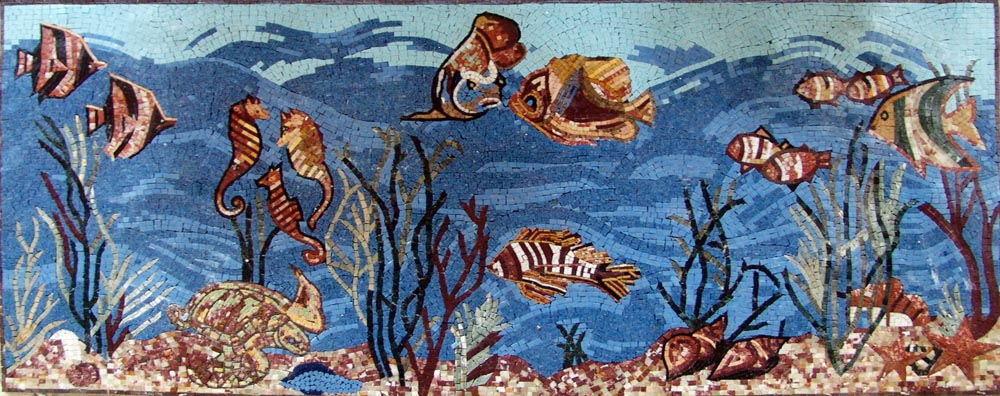 Sea Life Scenery Mosaic by Mozaico