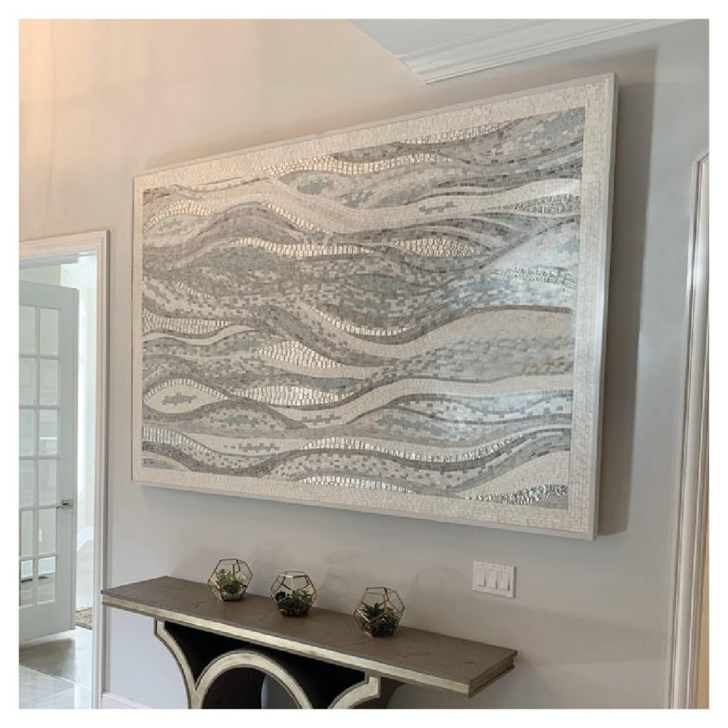 Peloponnese Waves Abstract Mosaic Art by Mozaico