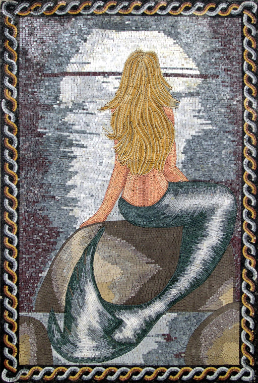 Little Mermaid Mosaic Art by Mozaico