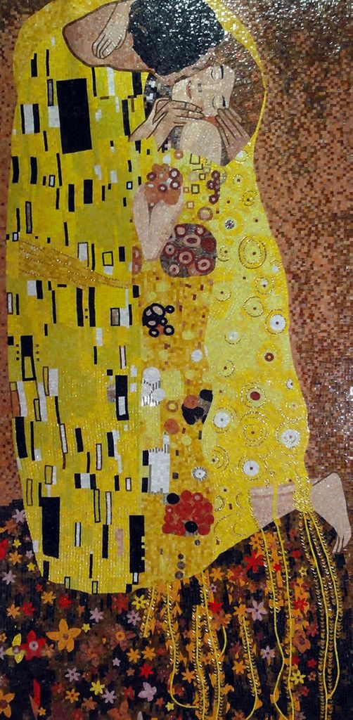 The Kiss by Gustav Klimt Mosaic Reproduction | Valentine's Day: Celebrating the Day of Love through Mosaics | Mozaico