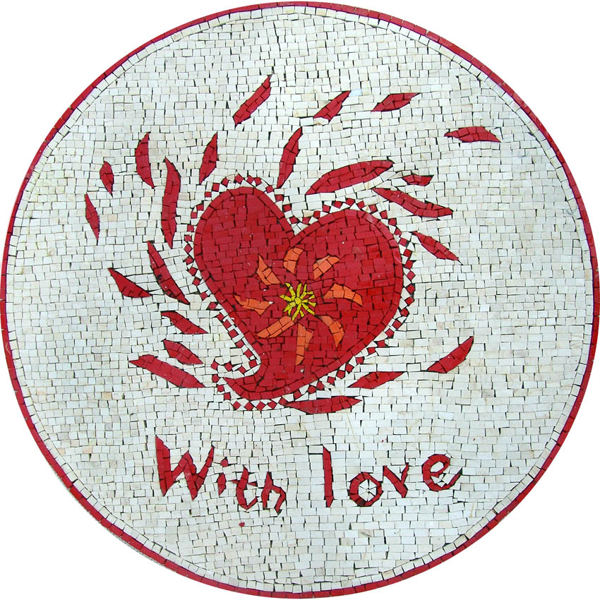 With Love Custom Mosaic | Valentine's Day: Celebrating the Day of Love through Mosaics | Mozaico