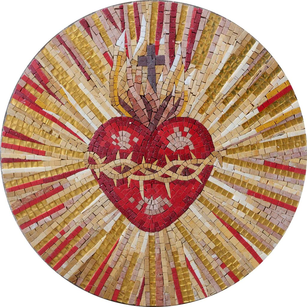 The Heart of Christ Mosaic | Valentine's Day: Celebrating the Day of Love through Mosaics | Mozaico