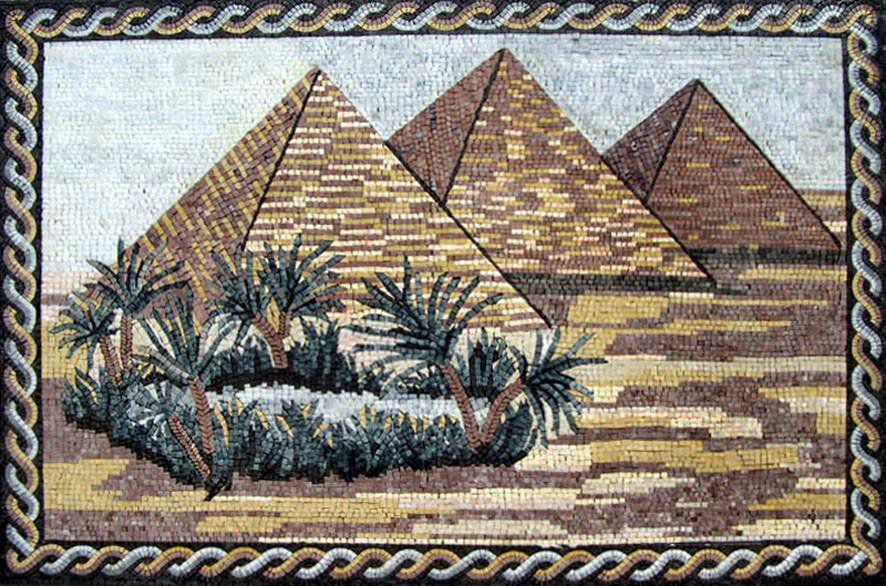 The Great Pyramids Mosaic by Mozaico