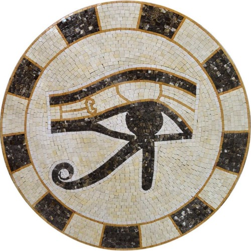 The Eye of Horus Egyptian Mosaic by Mozaico