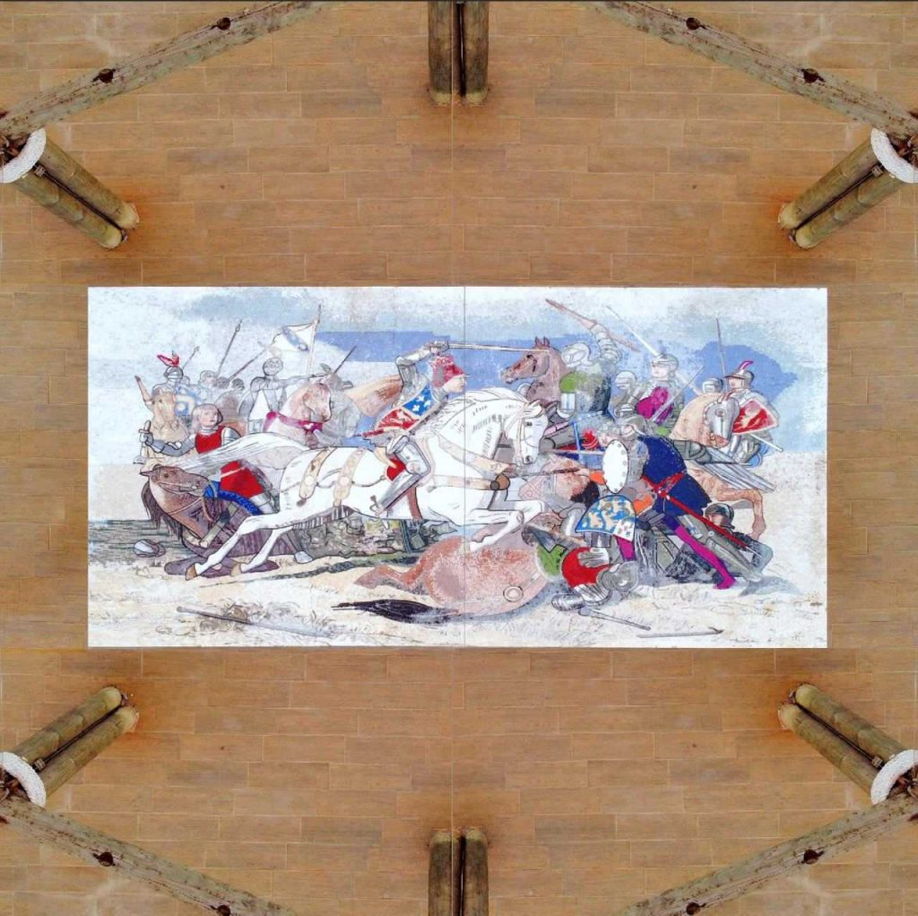 The Battle of Bosworth Mosaic Reproduction by Mozaico