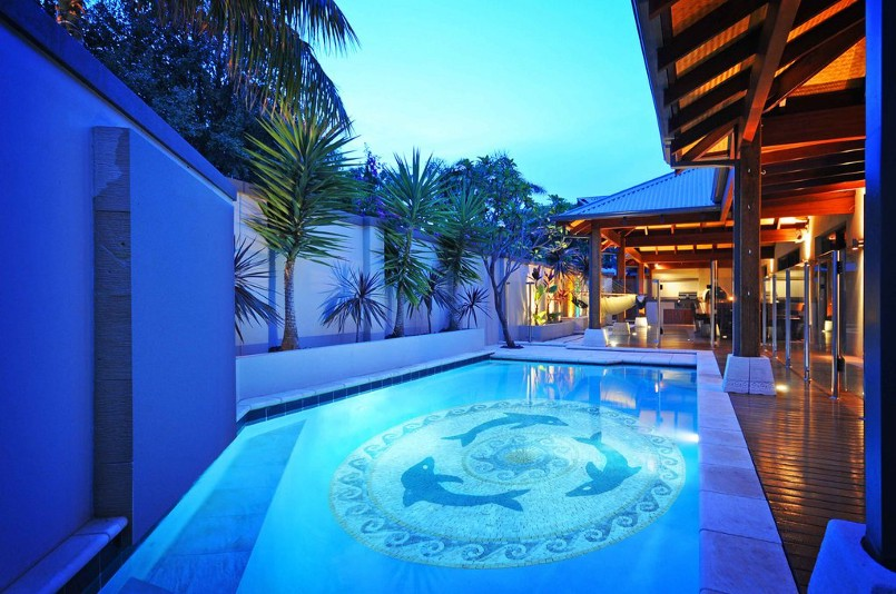 Installed Pool Mosaic Tile Art by Mozaico